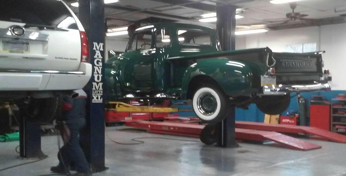 Old Truck Getting Maintenance